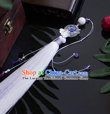 Top Grade Handmade Jewelry Accessories Ancient Hanfu Hairpins Jade Pendant Headwear for Women