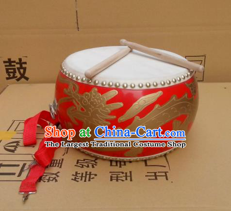 Chinese Traditional Drums Folk Dance Dragon Tupan Cowhide Drum