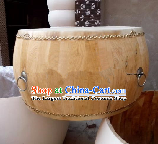 Chinese Traditional Handmade Drums Folk Dance Ailanthus Wood Drum Cowhide Drums