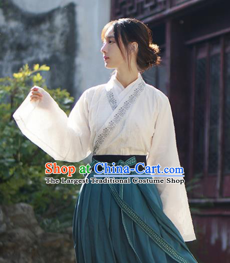 Chinese Ancient Palace Lady Hanfu Han Dynasty Imperial Concubine Queen Embroidered Historical Costumes