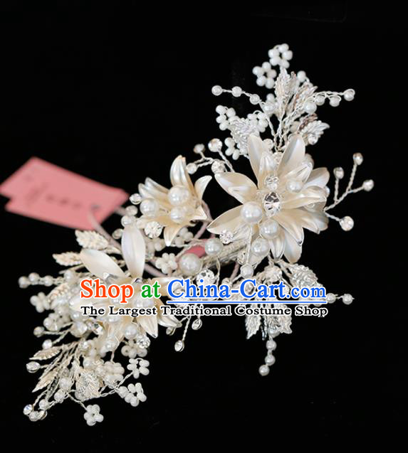 Top Grade Handmade Bride Pearls Hair Stick Baroque Hair Accessories for Women