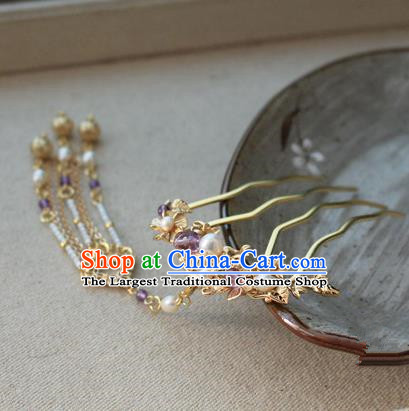 Asian Chinese Traditional Hair Accessories Ancient Hanfu Hair Comb Hairpins for Women