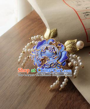 Chinese Classical Jewelry Accessories Traditional Hanfu Blueing Crab Brooch for Women