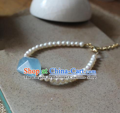 Asian Chinese Traditional Jewelry Accessories Ancient Hanfu Pearls Bracelet for Women