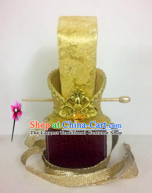 Chinese Traditional Hanfu Headdress Ancient Nobility Childe Hairdo Crown for Men