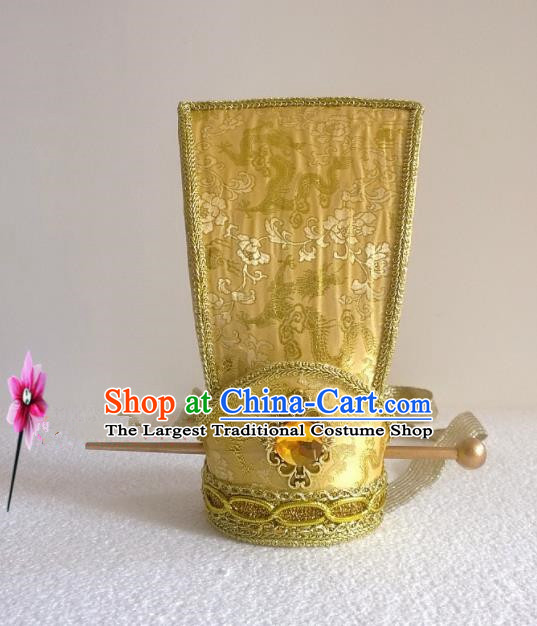 Chinese Traditional Hanfu Headdress Ancient Nobility Childe Golden Hairdo Crown for Men