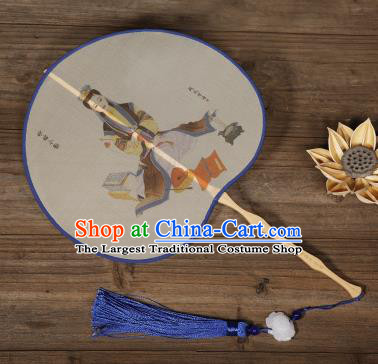 Traditional Chinese Crafts Palace Fans Hand Painting Peri Fans Ancient Silk Fan for Women