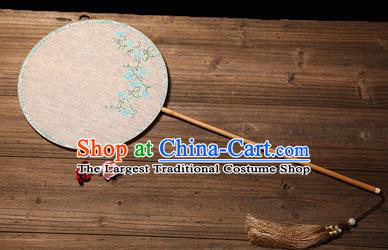 Chinese Traditional Palace Fans Hanfu Hand Painting Round Fans Ancient Silk Fan for Women
