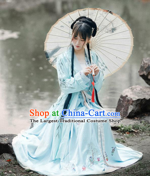 Chinese Ancient Drama Costumes Traditional Song Dynasty Nobility Lady Embroidered Dresses for Women