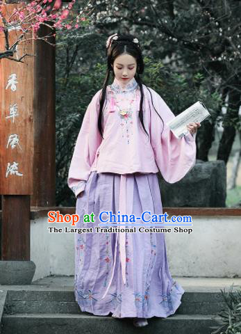 Chinese Ancient Drama Embroidered Costumes Traditional Ming Dynasty Princess Hanfu Dress for Women
