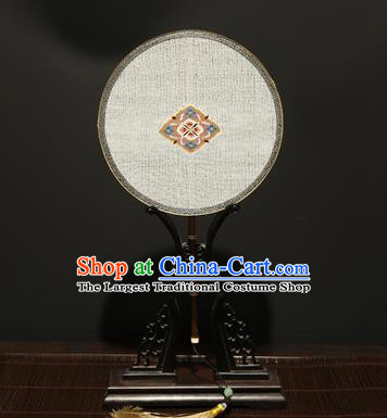 Chinese Ancient Princess Palace Fan Traditional Hanfu Pure Silk Round Fans for Women