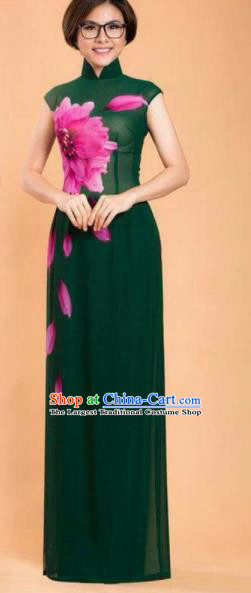Asian Traditional Vietnam Ao Dai Costume Vietnamese Bride Cheongsam for Women