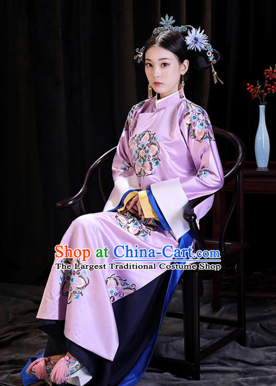 Chinese Ancient Qing Dynasty Drama Manchu Imperial Consort Princess Consort Costumes for Women