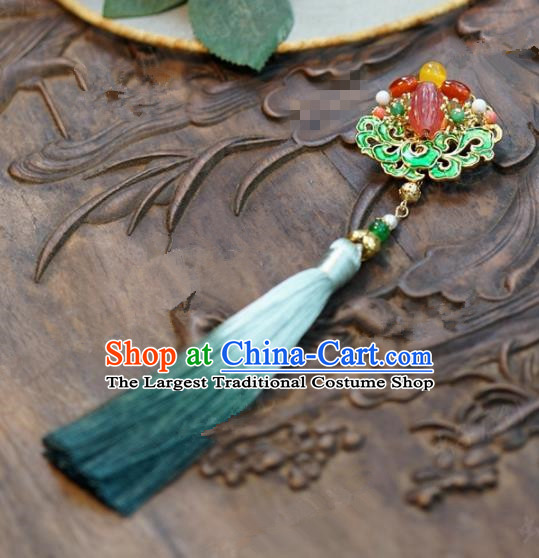 Chinese Traditional Wedding Hanfu Brooch Ancient Bride Palace Jewelry Accessories for Women