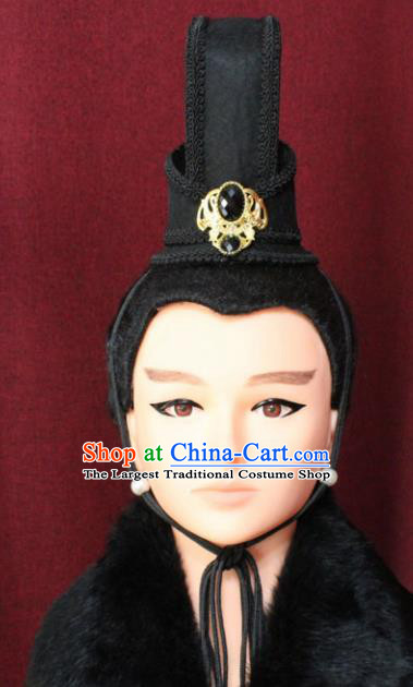 Chinese Traditional Classical Hair Accessories Ancient Han Dynasty Prince Hair Crown for Men