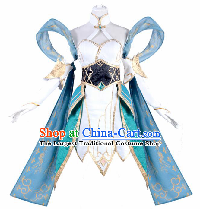 Chinese Ancient Swordswoman Costumes Cosplay Female Knight Dress for Women