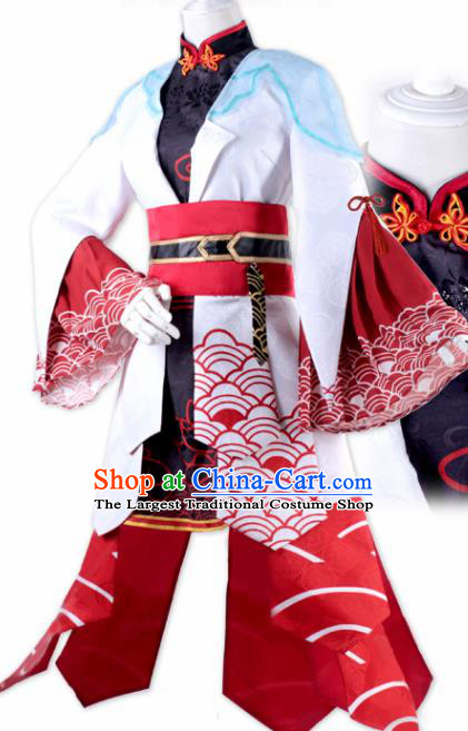 Chinese Ancient Swordswoman Costumes Traditional Cosplay Female Knight Dress for Women