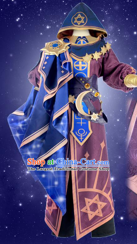 Chinese Traditional Cosplay Wizard Costumes Ancient Swordsman Clothing for Men
