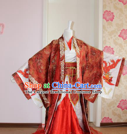 Chinese Traditional Cosplay Prince Wedding Costumes Ancient Swordsman Clothing for Men
