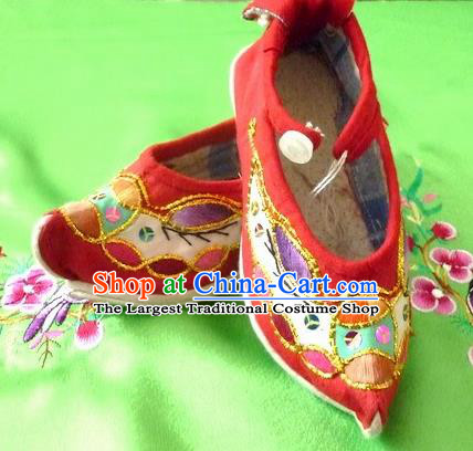 cc37c359045ec2 Chinese Traditional Hanfu Red Shoes Ancient Princess Embroidered Shoes  Handmade Shoes for Women