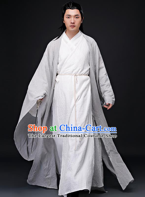 Chinese Ancient Nobility Childe Clothing Traditional Jin Dynasty Confucian Scholar Costumes for Men