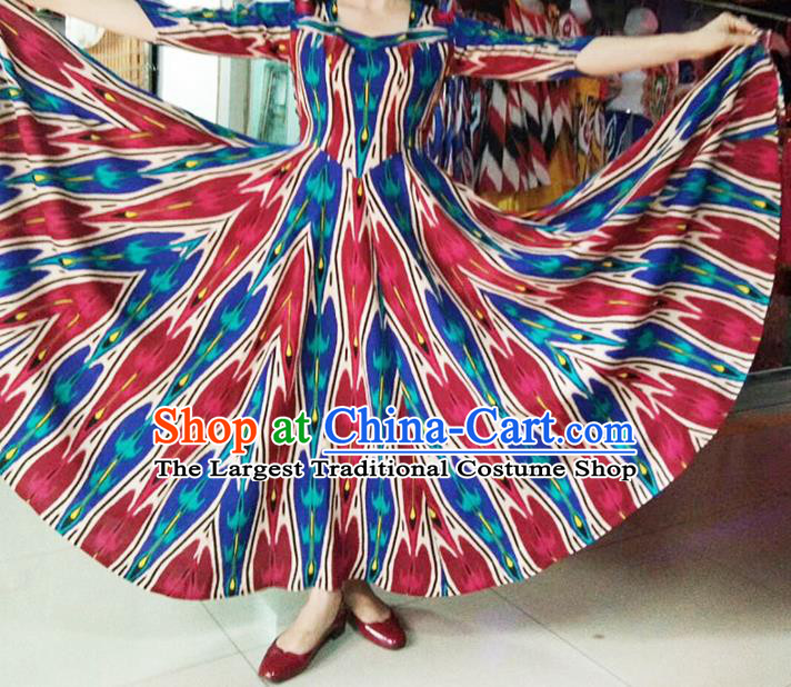 Chinese Ethnic Costumes Folk Dance Dress Traditional National Uyghur Nationality Clothing for Women