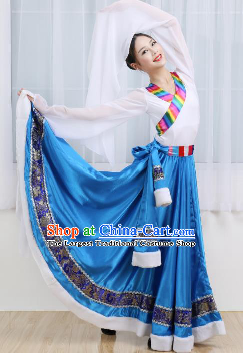 Chinese Ethnic Minority Dress Traditional Mongolian Nationality Folk Dance Costume for Women