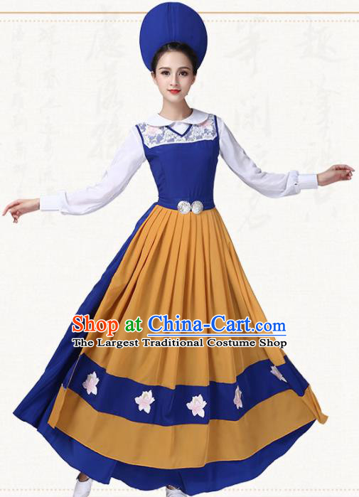 Western Traditional Classical Dance Dress Switzerland Dance Group Dance Costumes for Women