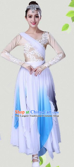 Chinese Traditional Classical Dance Dress Fan Dance Group Dance Costumes for Women