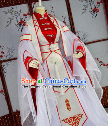 Traditional Chinese Cosplay Prince Embroidered Costumes Ancient Swordsman Hanfu Clothing for Men