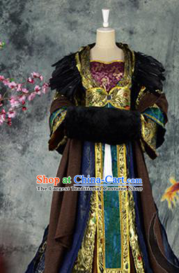 Traditional Chinese Cosplay Imperial Consort Costumes Ancient Swordswoman Hanfu Dress for Women