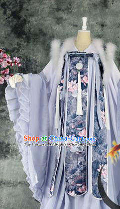 Traditional Chinese Cosplay Princess Costumes Ancient Swordswoman Hanfu Dress for Women