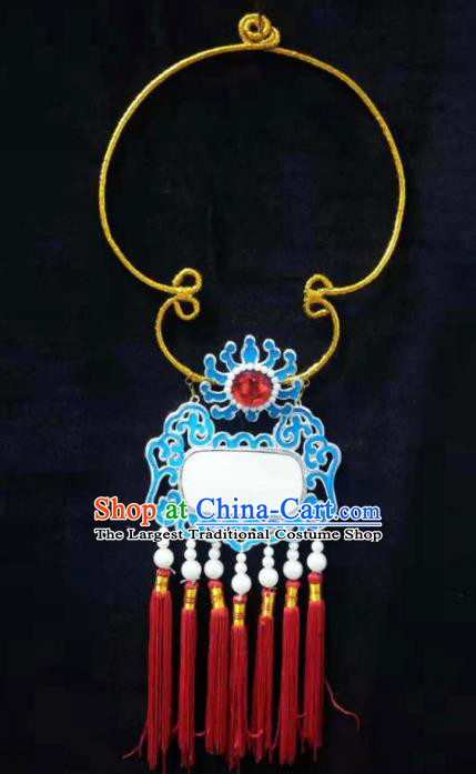 Traditional Chinese Beijing Opera Niche Accessories Ancient Crown Prince Necklace for Men