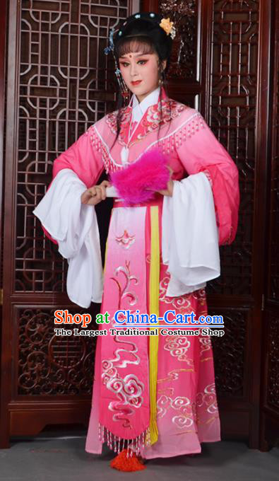 Traditional Chinese Beijing Opera Diva Costumes Ancient Imperial Consort Embroidered Rosy Dress for Adults
