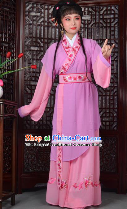 Traditional Chinese Peking Opera Young Lady Costumes Ancient Maidservants Dress for Adults