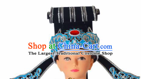 Professional Chinese Peking Opera Niche Hats Ancient Scholar Childe Headwear for Men