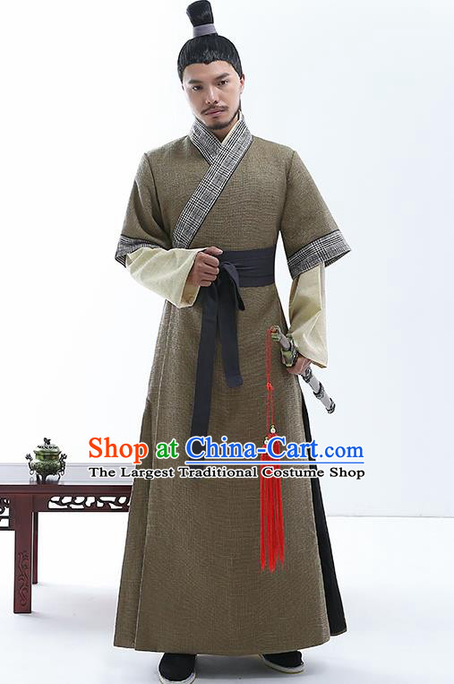 Chinese Traditional Spring and Autumn Period Nobility Childe Costumes Ancient Drama Swordsman Clothing for Men