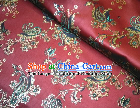 Traditional Chinese Royal Palace Pattern Design Brocade Fabric Silk Fabric Chinese Fabric Asian Material