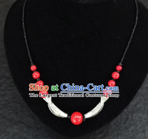 Chinese Traditional Jewelry Accessories Yunnan Minority Fish Necklace for Women