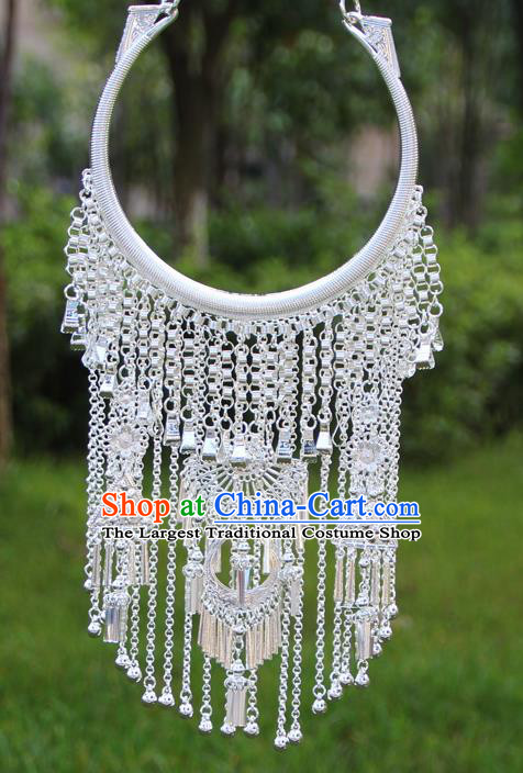 Chinese Traditional Ethnic Bride Accessories Yunnan Minority Tassel Necklace for Women