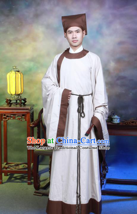 Traditional Chinese Song Dynasty Ministry Councillor Hanfu Clothing Ancient Scholar Costumes for Men