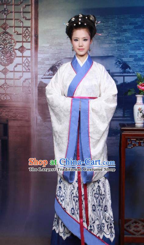 Chinese Ancient Royal Beauty Hanfu Dress Han Dynasty Imperial Concubine Historical Costumes for Women