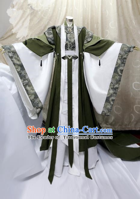 Ancient China Cosplay Han Dynasty Swordsman Costumes Traditional Royal Highness Clothing for Men