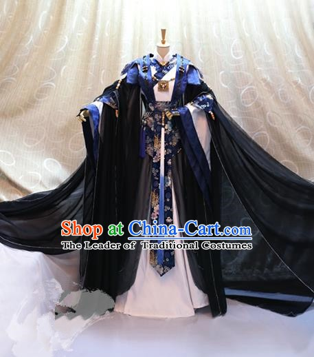 Traditional China Ancient Cosplay Swordswoman Clothing Han Dynasty Palace Lady Costumes for Women