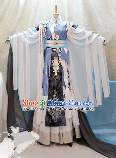 Ancient China Cosplay Han Dynasty Swordsman Costumes Royal Prince Clothing for Men