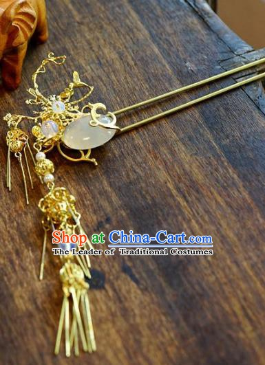 Chinese Handmade Classical Hair Accessories Luxurious Step Shake Ancient Hairpins for Women