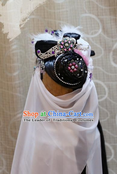 China Ancient Tang Dynasty Cosplay Princess Wig and Hair Accessories