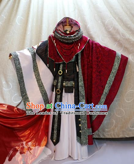 Ancient China Cosplay Tang Dynasty Swordsman Costumes Traditional Knight Clothing for Men