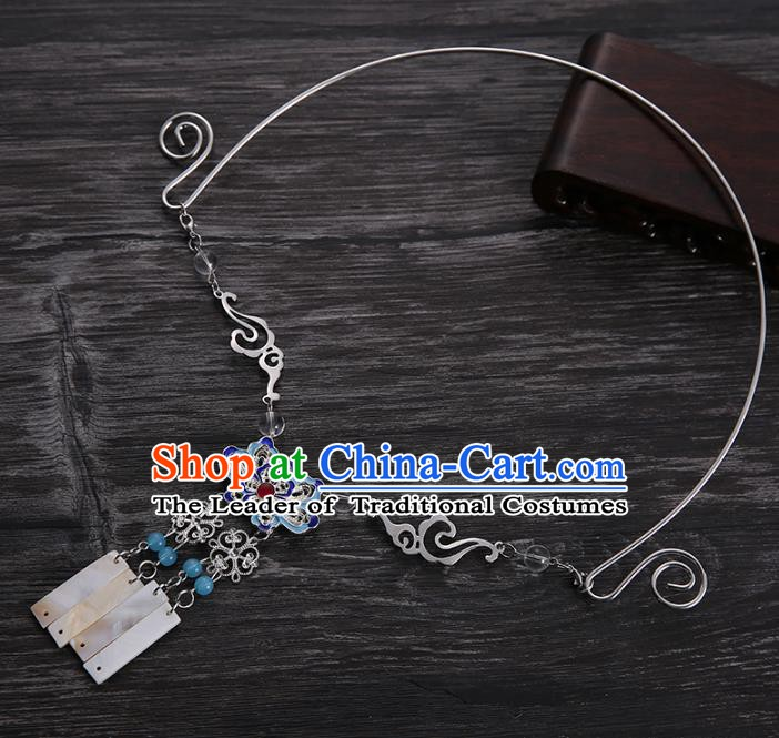 Handmade Chinese Ancient Accessories Bride Cloisonne Necklace for Women
