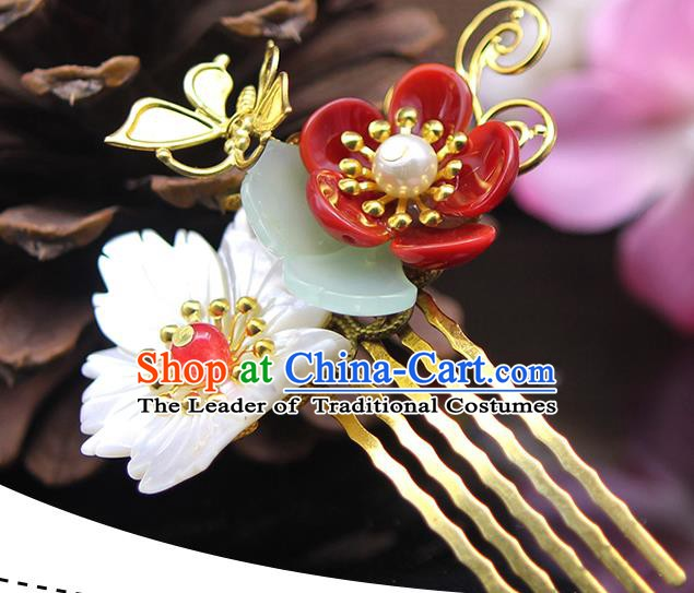 Handmade Chinese Ancient Palace Lady Hair Accessories Hanfu Hairpins Hair Comb for Women